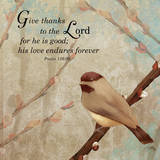 Give Thanks Print by Elizabeth Medley