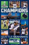 Seattle Seahawks Super Bowl XLVIII Celebration Poster