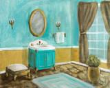 Golden Throne Room I Plakater af Walt Johnson
