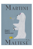 Martini Maltese Collectable Print by Ken Bailey