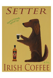 Setter Irish Coffee Láminas coleccionables por Ken Bailey