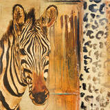 New Safari on Gold Square I Print by Patricia Quintero-Pinto
