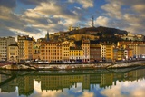 Waterfront Buildings on the Saone River Photographic Print by Bryan Peterson