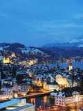 Lucerne on Lake Lucerne, Lucerne, Switzerland, Europe Photographic Print by Christian Kober