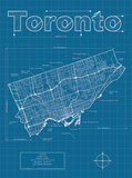 Toronto Artistic Blueprint Map Posters by Christopher Estes