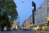 Arkaden Shopping Centre and Tram at Dusk, Gothenburg, Sweden, Scandinavia, Europe Photographic Print by Frank Fell
