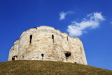 White Clouds in Blue Sky Above Cliffords Tower Photographic Print by Mark Sunderland