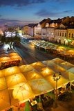 Market Square at Dusk, Old Town, Rzeszow, Poland, Europe Photographic Print by Frank Fell