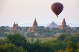 Dawn over Ancient Temples from Hot Air Balloon Photographic Print by Stuart Black