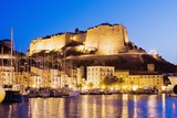 Bonifacio Citadel Seen from the Marina at Night Photographic Print by Massimo Borchi