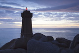 Lighthouse Meen Ruz, Ploumanach, Cote De Granit Rose, Cotes D'Armor, Brittany, France, Europe Photographic Print by Markus Lange
