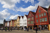 Fishing Warehouses in the Bryggen District Photographic Print by Doug Pearson