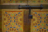 Interior Door Detail, Moulay Ismail Mausoleum, Medina, Meknes, Morocco, North Africa, Africa Photographic Print by Doug Pearson