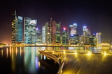 City Skyline at Night, Marina Bay, Singapore, Southeast Asia, Asia Photographic Print by Gavin Hellier
