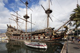 The Neptune Galleon in the Old Port, Genoa, Liguria, Italy, Europe Photographic Print by Mark Sunderland
