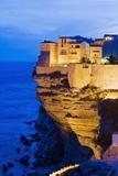 Bonifacio High Town on Limestone Cliff Photographic Print by Massimo Borchi