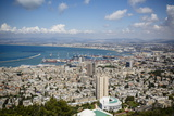 View over the City and Port, Haifa, Israel, Middle East Photographic Print by Yadid Levy