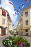 National Flags and Street Scene, Gothenburg, Sweden, Scandinavia, Europe Photographic Print by Frank Fell