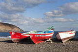 Fishing Boats, Pozo Negro, Fuerteventura, Canary Islands, Spain, Atlantic, Europe Photographic Print by Markus Lange