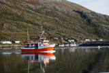 Fishing Boat Leaving Torsvaag, North Norway, Norway, Scandinavia, Europe Photographic Print by David Lomax