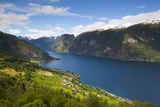 Aurlandsvangen Overview, Aurlands Fjord, Sogn Og Fjordane, Norway, Scandinavia, Europe Photographic Print by Doug Pearson