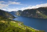 Aurlandsvangen Overview, Aurlands Fjord, Sogn Og Fjordane, Norway, Scandinavia, Europe Photographic Print by Doug Pearson