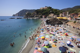 The Free Beach in the Old Town at Monterosso Al Mare Photographic Print by Mark Sunderland