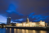 Custom House, Illuminated at Dusk, Reflected in the River Liffey Photographic Print by Martin Child