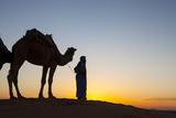 Camel Driver, Sahara Desert, Merzouga, Morocco, North Africa, Africa Photographic Print by Doug Pearson