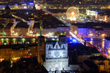 La Fete Des Lumieres (Lights Festival) of 2006, Saint Jean Cathedral in Foreground Photographic Print by Arnaud Chicurel