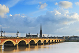 Pont De Pierre Bridge over Garonne River Photographic Print by Luca DaRos
