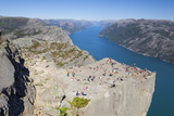 View over the Light Fjord from Preikestolen (Pulpit Rock) Photographic PrintDoug Pearson