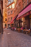 People Enjoying the Restaurants of Vieux Lyon, Lyon, Rhone, Rhone-Alpes, France, Europe Photographic Print by Mark Sunderland