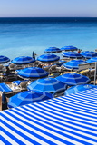 Beach Parasols, Nice, Alpes Maritimes, Provence, Cote D'Azur, French Riviera, France, Europe Reproduction photographique par Amanda Hall