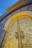 Royal Palace Door, Fes, Morocco, North Africa, Africa Fotografie-Druck von Douglas Pearson