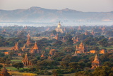 Dawn over Ancient Temples from Hot Air Balloon Fotodruck von Stuart Black