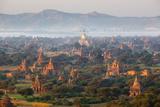 Stuart Black - Dawn over Ancient Temples from Hot Air Balloon - Fotografik Baskı