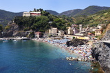 The Old Town Beach at Monterosso Al Mare from the Cinque Terre Coastal Path Photographic Print by Mark Sunderland
