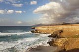 Sunset at Playa Del Viejo Rey, La Pared, Fuerteventura, Canary Islands, Spain, Atlantic, Europe Photographic Print by Markus Lange