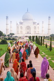 India, Uttar Pradesh, the Taj Mahal, This Mughal Mausoleum Has Become the Tourist Emblem of India Photographic Print by Gavin Hellier