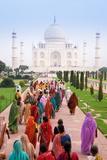 India, Uttar Pradesh, the Taj Mahal, This Mughal Mausoleum Has Become the Tourist Emblem of India Photographic Print by Gavin Hellier
