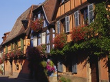 Timber Framed Houses in Niedermorschwihr, Alsace, France Photographic Print by John Miller