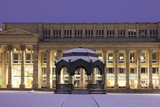 Pavilion and Konigsbau Shopping Centre at Schlossplatz Square in Winter Photographic Print by Markus Lange