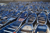 Traditional Blue Fishing Boats in the Harbour Photographic Print by Stuart Black