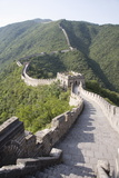 The Great Wall at Mutyanyu, UNESCO World Heritage Site, Near Beijing, China, Asia Fotoprint van Angelo Cavalli