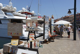 Art Market Along Harbour, Saint-Tropez, Var, Provence-Alpes-Cote D'Azur, Provence, France, Europe Photographic Print by Stuart Black