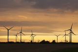 Wind Turbines at Sunset, Fehmarn, Baltic Sea, Schleswig Holstein, Germany, Europe Photographic Print by Markus Lange