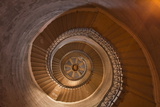 A Spiral Staircase Inside Notre Dame De Fourviere, Lyon, Rhone, Rhone-Alpes, France, Europe Photographic Print by Mark Sunderland