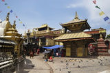 Swayambhunath Stupa (Monkey Temple), UNESCO World Heritage Site, Kathmandu, Nepal, Asia Photographic Print by Peter Barritt