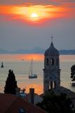 Adriatic Sunset, Cavtat, Dubrovnik Riviera, Dalmatian Coast, Dalmatia, Croatia, Europe Fotografie-Druck von Frank Fell